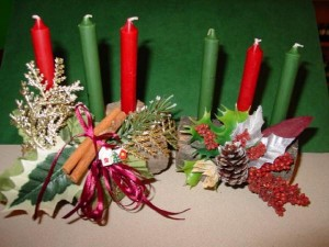Candles to console Woden and light Freya's way.